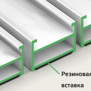 Алюминиевая грязезащитная решетка высота профиля 26 мм