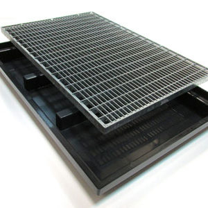 Грязесборный стеклопластиковый поддон с решеткой 1200*800