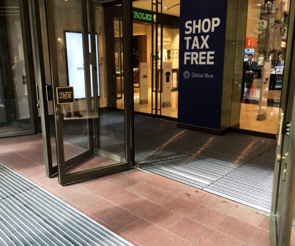 2-ДЛТ-алюминиевые грязесборные решетки перед входом