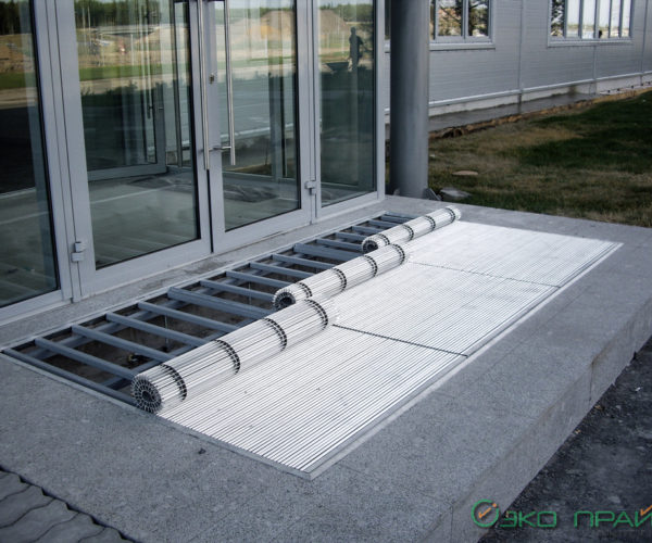 2-Хенде-Алюминиевая грязесборная решетка 22 ПРАКТИК XL на опорном каркасе
