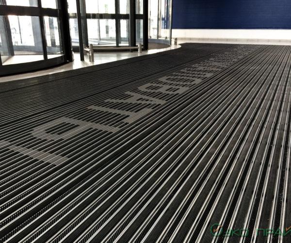 3-Мега Парнас-Придверная чистящая алюминиевая решетка Резина Щетка Скребок
