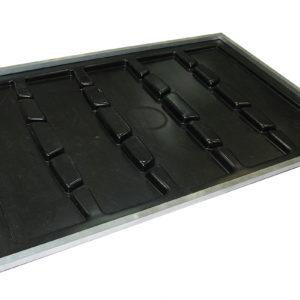 Грязесборный пластиковый поддон под алюминиевую решетку