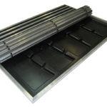 Пластиковый грязесборный поддон для алюминиевой решетки